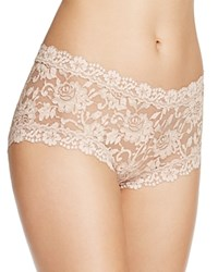 Hanky Panky Cross Dyed Lace Boy Short 591204 Taupe Vanilla