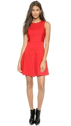 4.Collective Sleeveless Pintuck Dress Red