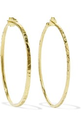 Jennifer Meyer Hammered 18 Karat Gold Hoop Earrings One Size