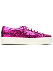 Saint Laurent 'Court Classic' Platform Sneakers Pink And Purple