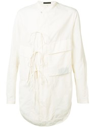 Ziggy Chen Cargo Pocket Shirt White