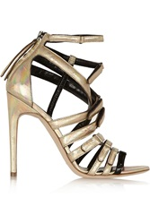 Antonio Berardi Rupert Sanderson Sonnet Holographic Leather Sandals