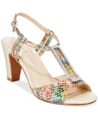 Karen Scott Lorahh Dress Sandals Only At Macy's Women's Shoes Multi Snake