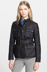 Belstaff 'Roadmaster' Waxed Cotton Coat Black