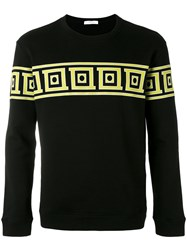 Versace Collection Border Print Sweatshirt Men Cotton M Black
