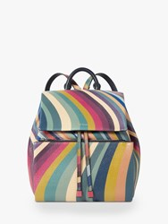 Paul Smith Small Leather Backpack Swirl