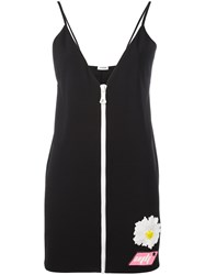 Au Jour Le Jour Front Zip Mini Dress Black