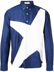 Education From Youngmachines Star Print Shirt Blue
