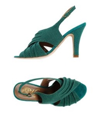 Nora Sandals Emerald Green