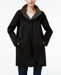 Eileen Fisher Organic Cotton Blend Reversible Coat Black