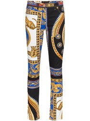 Versace High Waisted The Lovers Print Jeans Unavailable