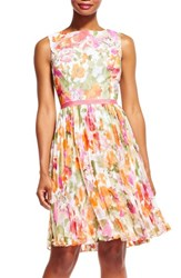 Adrianna Papell Women's Chiffon Fit And Flare Dress