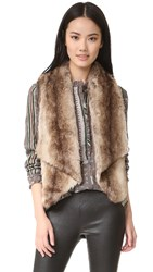 Bb Dakota Jack By Julius Faux Fur Vest Light Tan