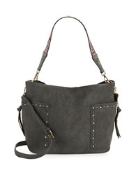 Steve Madden Kailyn Faux Leather Satchel Charcoal Grey