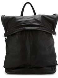 11 By Boris Bidjan Saberi Embossed Logo Backpack Black