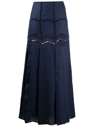 Gabriela Hearst Embroidered Flared Maxi Skirt 60