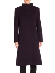Cinzia Rocca Wool Blend Long Sleeve Coat Navy