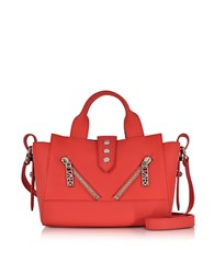 Kenzo Fire Red Gommato Leather Mini Kalifornia Handbag