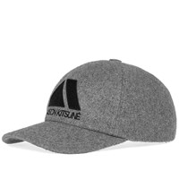 Maison Kitsune Triangle 6 Panel Cap Grey