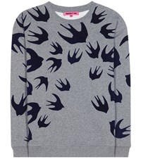 Mcq By Alexander Mcqueen Cotton Blend Sweatshirt With Applique Grey