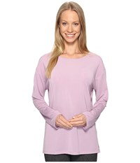 Lucy Uncharted Long Sleeve Top Fresh Lavender Women's Long Sleeve Pullover Purple