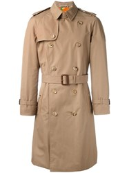 Gucci Embroidered Tiger Trench Coat Nude Neutrals