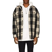 R 13 Workshirt Buffalo Checked Wool Blend Jacket Multi