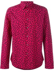 Paul Smith Ps By Heart Print Shirt Pink And Purple