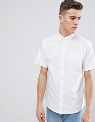 D Struct Basic Oxford Short Sleeve Shirt White