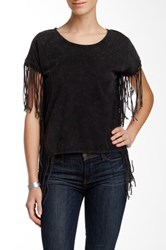 Fate Washed Fringe Tee Gray