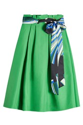Emilio Pucci Cotton Midi Skirt With Silk