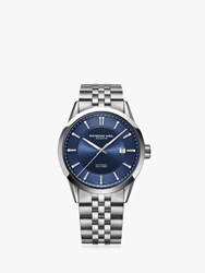 Raymond Weil 2731 St 50001 'S Freelancer Automatic Date Bracelet Strap Watch Silver Blue