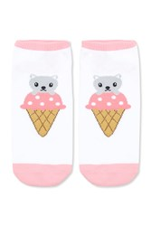 Forever 21 Ice Cream Cat Graphic Socks Pink Multi Onerror Javascript Fnremovedom 'Color