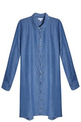 Splendid Denim Shirt Dress Blue