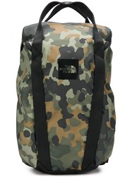 The North Face Camouflage Print Backpack Green