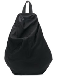 Yohji Yamamoto One Shoulder Backpack Black