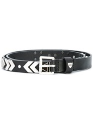 Htc Hollywood Trading Company Studded Belt Black