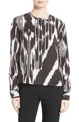 Theory Women's Isalva Interlace Ikat Silk Top