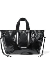 Isabel Marant Wardy Glossed Leather Tote Black