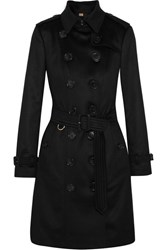 Burberry The Sandringham Cashmere Trench Coat Black