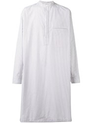 Christophe Lemaire Steph Long Shirt Men Cotton 48 White