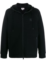 Woolrich Front Zipped Pocket Hoodie Black