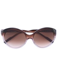 Courreges Round Sunglasses Women Acetate One Size Pink Purple