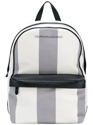 Calvin Klein 205W39nyc Medium Striped Backpack White