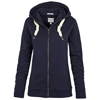 Fat Face Original Slim Zip Through Hoodie Navy