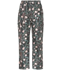 Isabel Marant Loris Cigarette Cropped Printed Pants Multicoloured