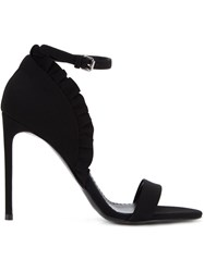 Stella Mccartney Ruffle Ankle Strap Sandals Black
