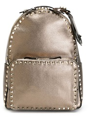 Valentino Garavani 'Rockstud' Metallic Backpack