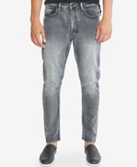 Kenneth Cole New York Men's Skinny Fit Gray Wash Jeans Grey