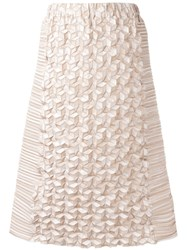 Issey Miyake Origami A Line Skirt Nude Neutrals